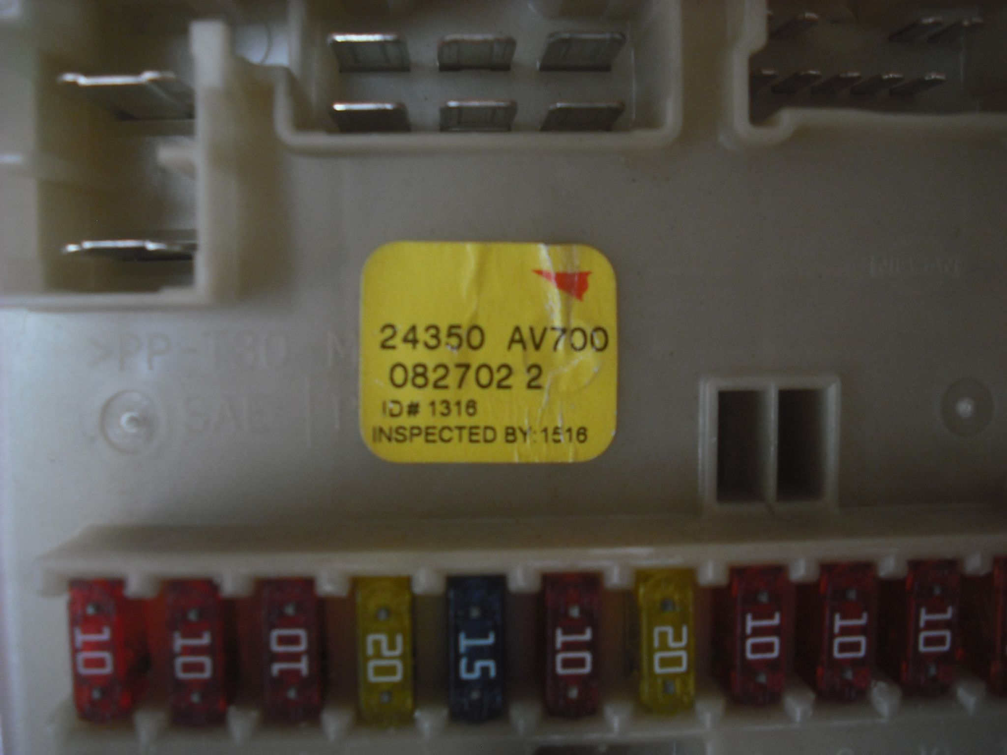 a genuine nissan primera p12 interior drivers side fuse box 24350 av700 082702 2 [2] 8697 p genuine nissan primera p12 interior drivers side fuse box 24350 nissan primera p12 fuse box layout at eliteediting.co